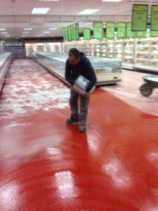Pavimenti in resina a Como e provincia - Pavimento in resina supermercato