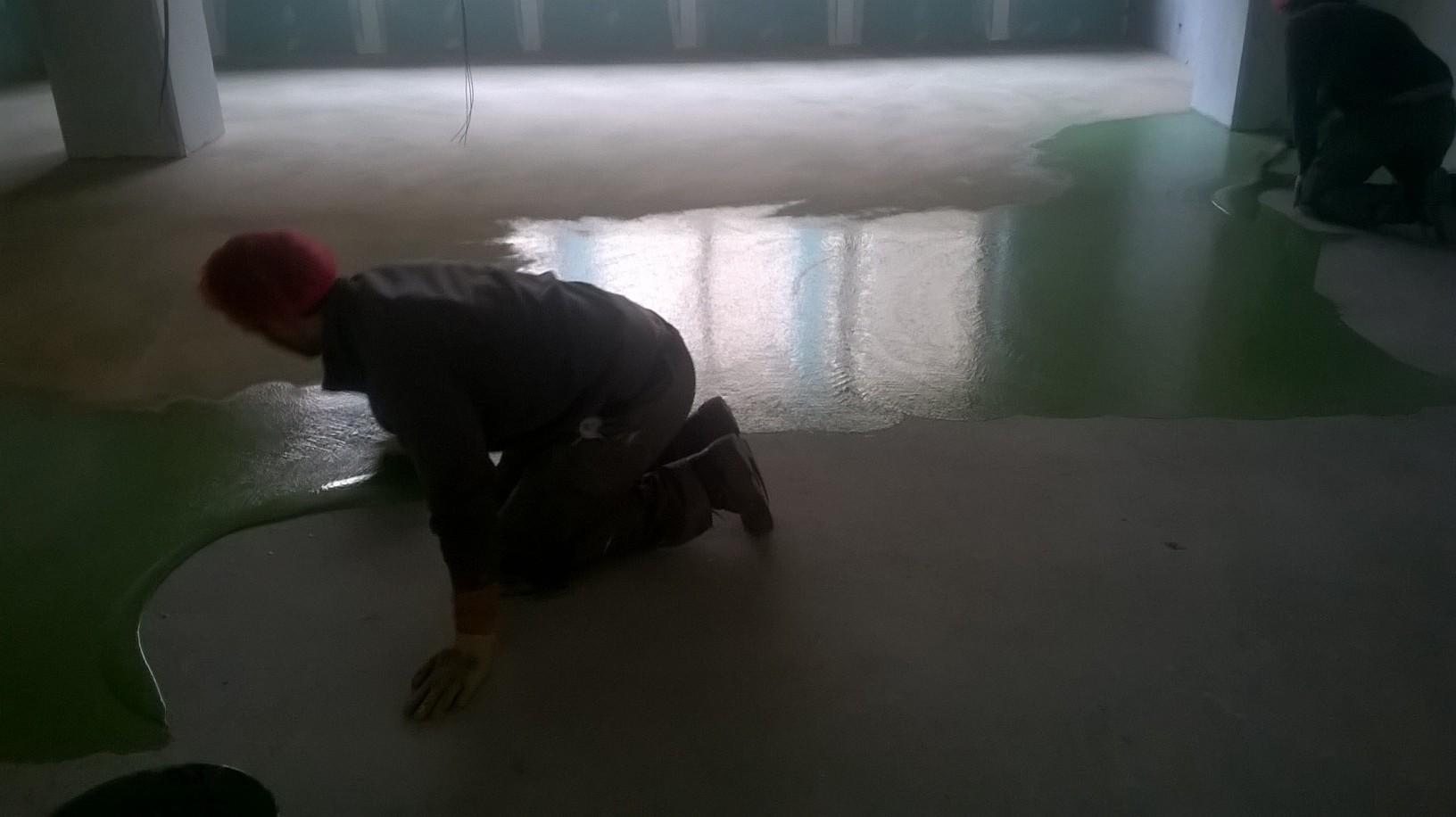 Pavimentazione in resina colore verde