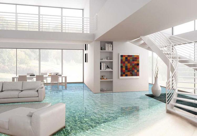i pavimenti in resina effetto 3d per una casa elegante